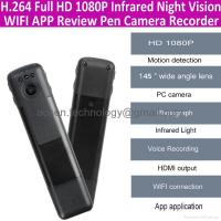 China 1080P HD WIFI Wireless Spy Pen Camera IR Night Vision hidden video Pen Camcorder on sale