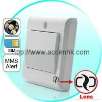 China HD Spy Camera Light Switch with GSM Remote Control (Motion Detection, MMS Alert) on sale