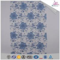 Quality French Blue Net Lace Fabric Embroidered wholesale