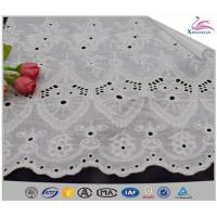 China Hot Sale New Design Cotton Embroidery Lace Fabric on sale