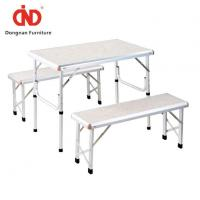 China Portable Patio Fold Out Picnic Table and Chairs for Sale Outside Space Saving Table with Bench on sale