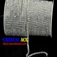 Quality Sparkle Crystal chain trimming , rhinestone cup chain wholesale china wholesale