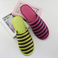 Quality Beautiful Stripe Closed Toe Indoor Outdoor Slipper for Women wholesale
