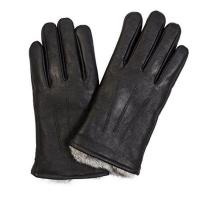 China GM002-Men Rabbit Lined Leather Gloves on sale