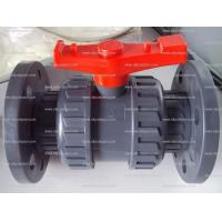 China PVC Double Union Ball Valves with Flange on sale